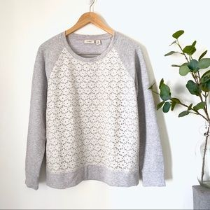 •L.L.Bean• Laced Front Pullover